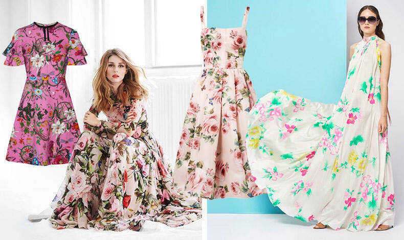 409c465d1fd6 Φορέστε τα με ψηλά τακούνια ή ίσια σανδάλια, ένα φλοράλ φόρεμα δείχνει κομψό  και αεράτο σε κάθε περίσταση.